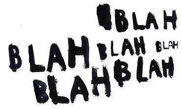 how to say blah blah blah in french